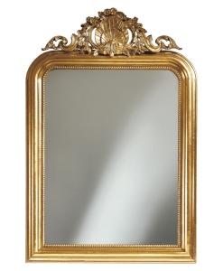 Specchiera Imperator foglia oro argento