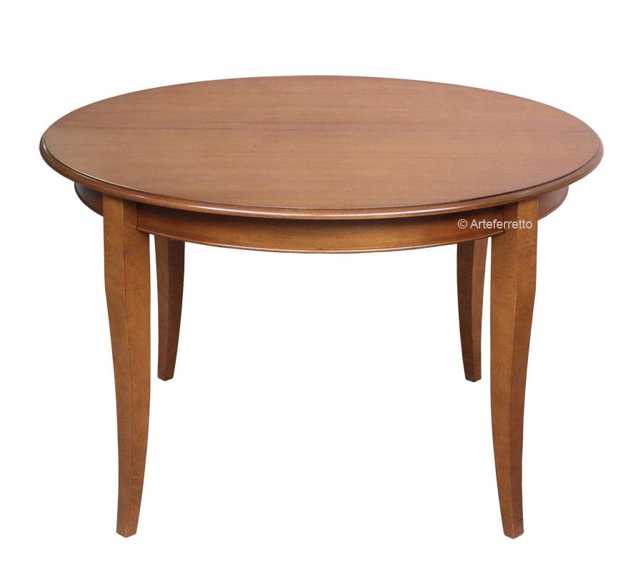 Tavolo rotondo allungabile 100 cm arteferretto for Table extensible 100 cm