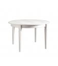 Tavolo rotondo allungabile bianco patinato