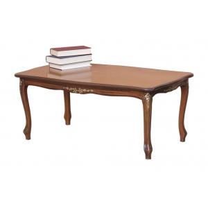 Tavolino rettangolare con dettagli oro Q-C43