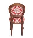 Sedia in legno massello di faggio, imbottita e tappezzata, sedia da cucina