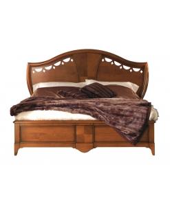 letto testata in legno intagliato in legno classico AF-1014