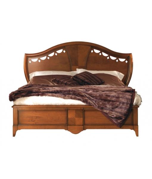 Letto testata in legno intarsiato e traforato arteferretto - Testata letto in legno ...