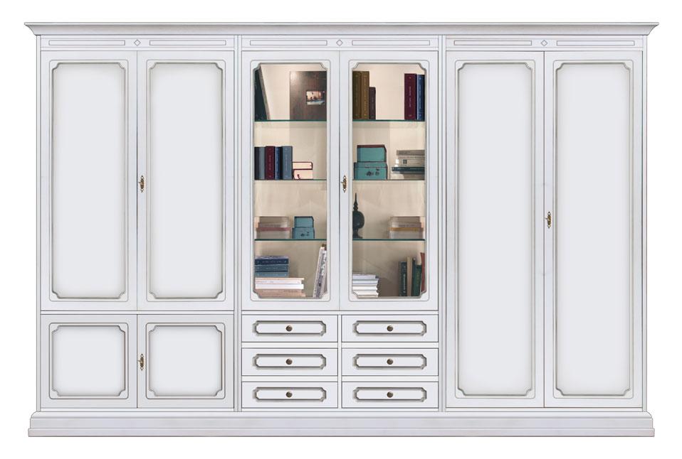Composizione mobili da parete 3 metri di stile