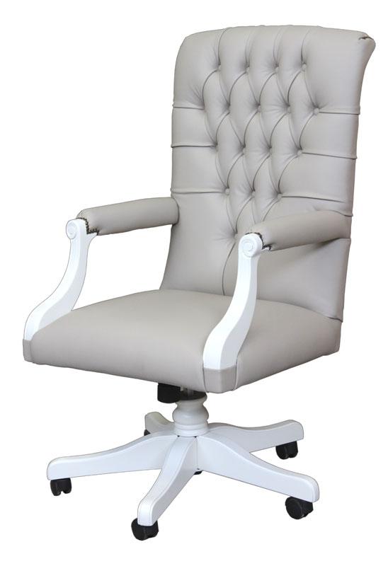 Poltrona da ufficio schienale capitonn lux arteferretto for Poltrona girevole design