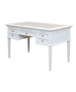 scrivania laccata argento swarovski