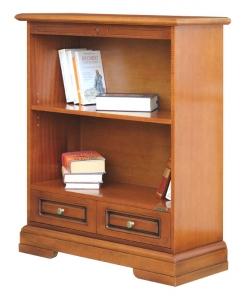 libreria bassa classica, libreria classic bassa, libreria in legno, piccola libreria, libreria per soggiorno, libreria con cassetto