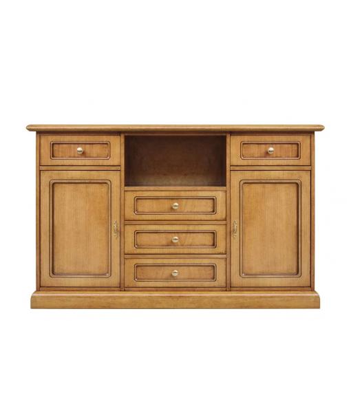 Credenza alta porta TV da sala da pranzo colore legno chiaro, Art. 4047-NL