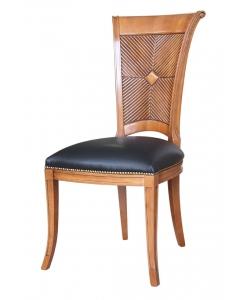 sedia, sedia in legno, sedia con pelle, sedia per soggiorno, arredo soggiorno, sedia per sala da pranzo, sedia in legno
