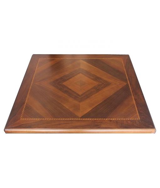 Tavolo quadrato allungabile a libro 100 200 cm arteferretto for Tavolo legno quadrato
