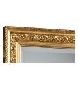 Dettaglio specchiera cornice con foglia oro