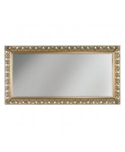 specchiera legno con foglia oro