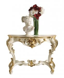 consolle laccata con foglia oro stile arocco