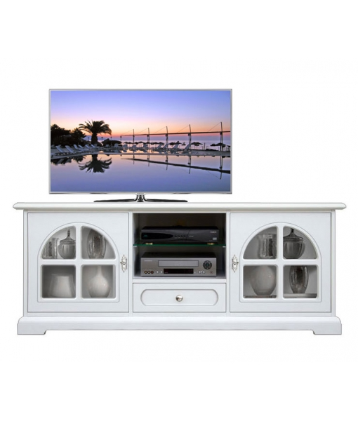 Mobile tv in legno bianco per salotto o soggiorno , Art. 3059-BB
