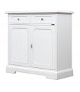 Credenza bianca 2 porte 2 cassetti in legno per cucina