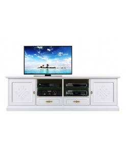 Mobile tv 2 ante e 2 cassetti con decorazioni a rilievo