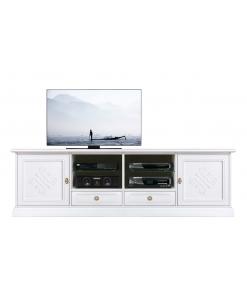 Mobile TV 2 ante e 2 cassetti con decorazioni in rilievo