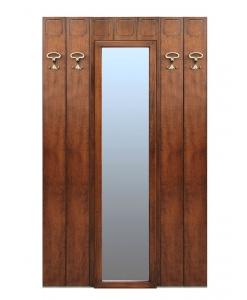 pannello appendiabiti con specchio, pannello appendiabiti, arredo ingresso, soluzione per ingresso, appendiabiti con 4 appendini, pannello appendiabiti in stile
