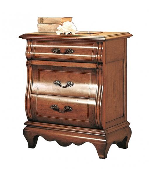 comodino, zona notte, camera classica, camera da letto, mobili zona notte, comodino massello, comodino sagomato, comodino artigianale,