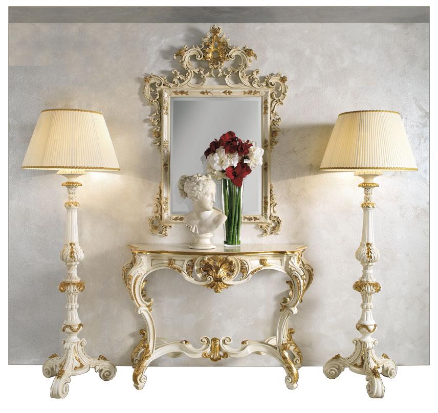Composizione da salotto con consolle specchio e 2 for Console per salotto