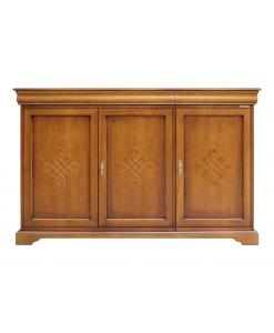 Credenza 3 porte e 2 cassetti stile Luigi Filippo