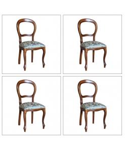 lotto di 4 sedie imbottite