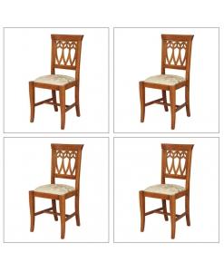 Lotto di 4 sedie da cucina