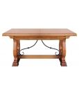 Tavolo allungabile in legno stile rustico, alta qualità italiana