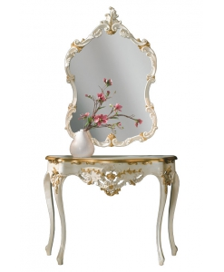 Consolle e specchio di lusso