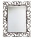 Specchiera foglia argento patinato