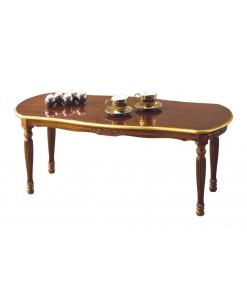Tavolino ovale da salotto rettangolare