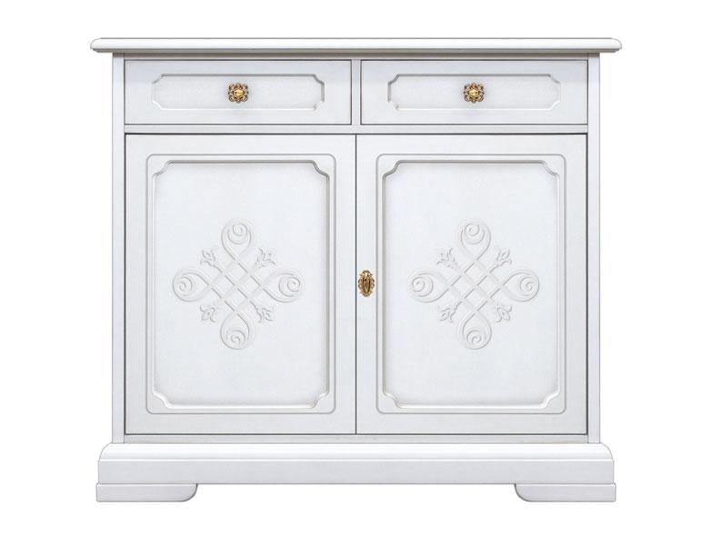 Credenza elegante in stile classico con decori mobile - Decori in legno per mobili ...