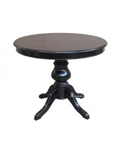 446-N-100 Tavolo rotondo nero allungabile