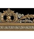 Specchiera specchio con decorazioni foglia oro e argento