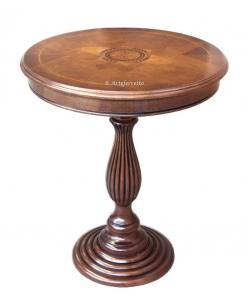 Tavolino da salotto con intarsio a margherita