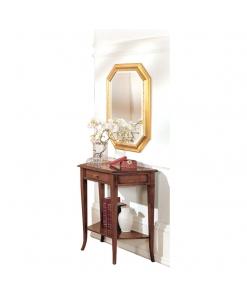 Consolle classica in legno con un cassetto