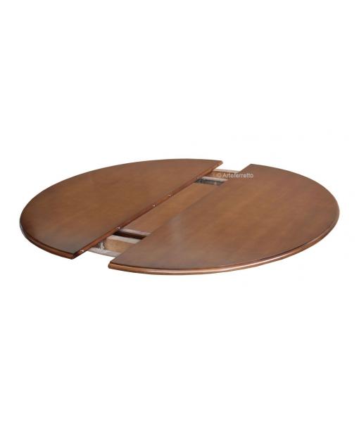 Installazione allunga su tavolo rotondo / ovale