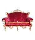 Divano lussuoso stile barocco foglia oro