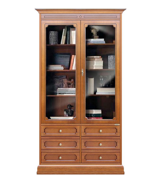 Vetrina libreria alta con ante in vetro W&G - ArteFerretto