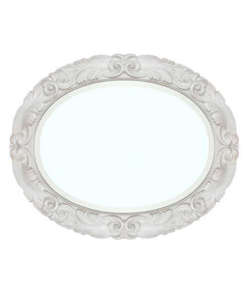 Specchiera ovale in legno e pasta di legno. Cod. A641-B