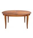 Tavolo ovale intarsiato allungabile per 8 persone