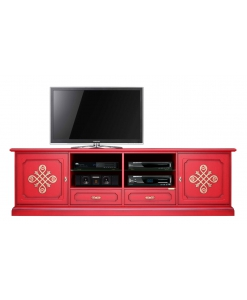 Mobile Tv 2 metri Red & Gold, mobile tv rosso, porta tv rosso, mobile porta tv rosso, mobile rosso, mobile rosso per salotto