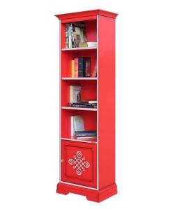 Libreria stretta colore rosso