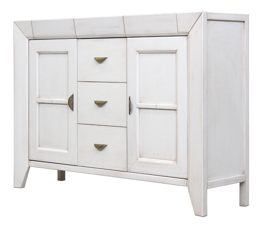 Credenza bianca stile classico moderno, credenza cucina bianca legno ...