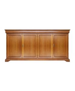 Credenza 4 porte in legno 4 ante Luigi Filippo