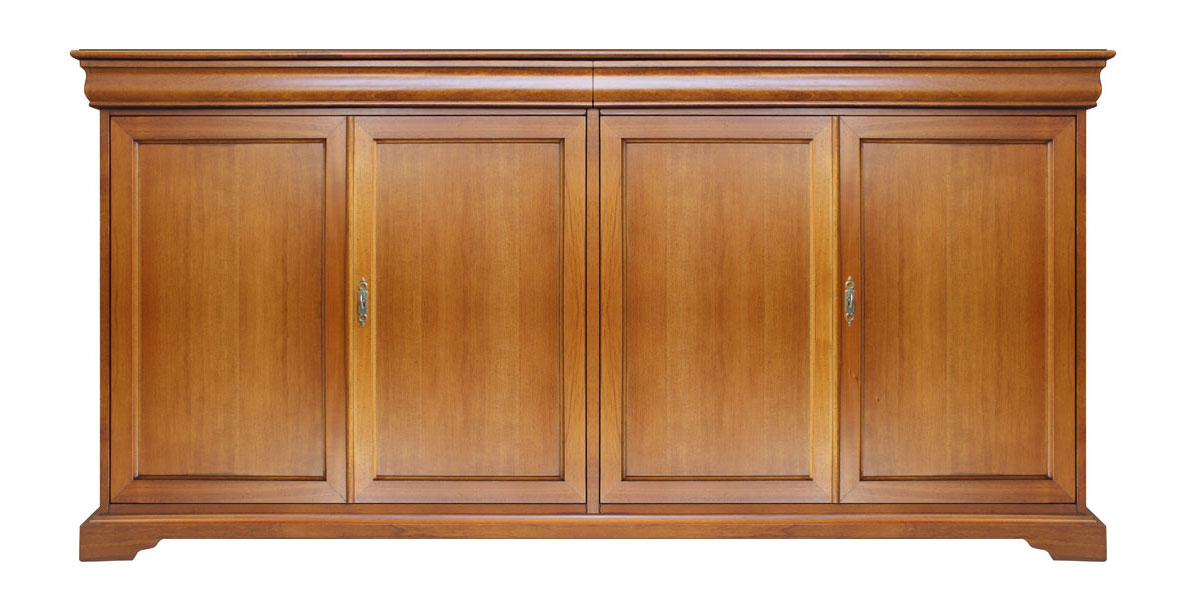 Credenza 4 ante stile classico Luigi Filippo, credenza in legno per ...