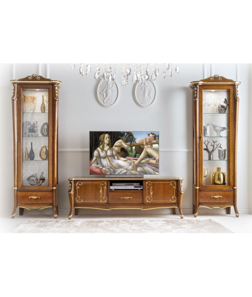 Mobile porta tv dettagli oro beautiful line arteferretto - Mobili porta tv classici ...