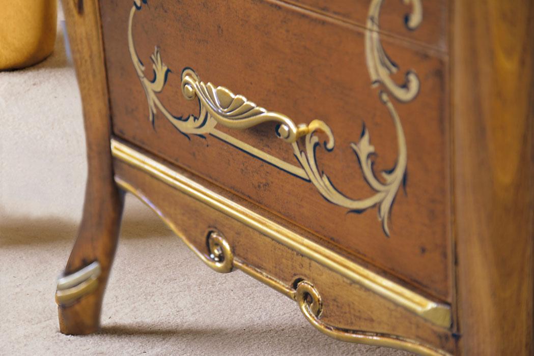 Cassettiera in legno in stile barocco mg by oak