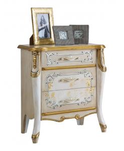 comodino lusso laccato e decorato con oro