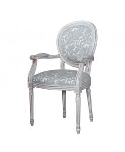 Sedia capotavola shabby / invecchiato per il salotto o sala da pranzo